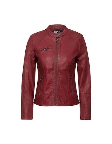 Produktbild zu Lederimitat-Jacke mit Reißverschluss von CECIL