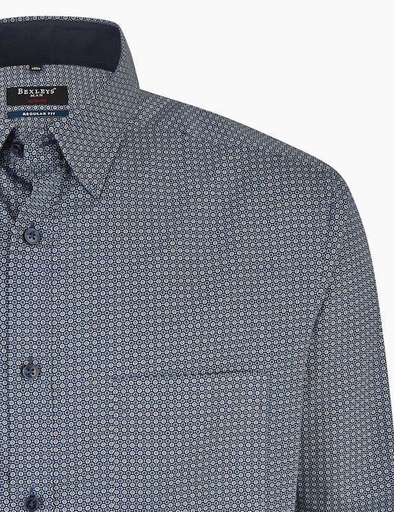 Bexleys man Freizeithemd mit Allover-Punkteprint, REGULAR FIT | ADLER Mode Onlineshop
