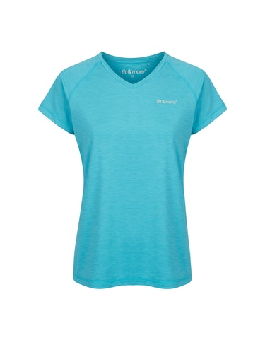 Produktbild zu Fitness T-Shirt mit V-Ausschnitt von Fit&More