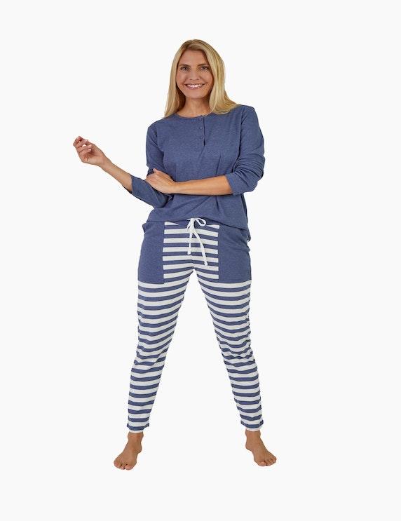 NORMANN Pyjama mit Streifen   ADLER Mode Onlineshop