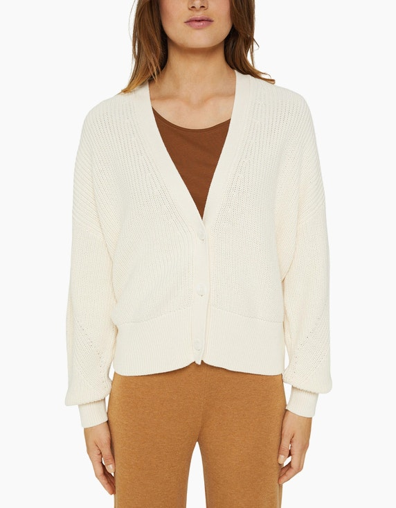 Esprit Cardigan aus dickem Baumwoll-Rippstrick   ADLER Mode Onlineshop