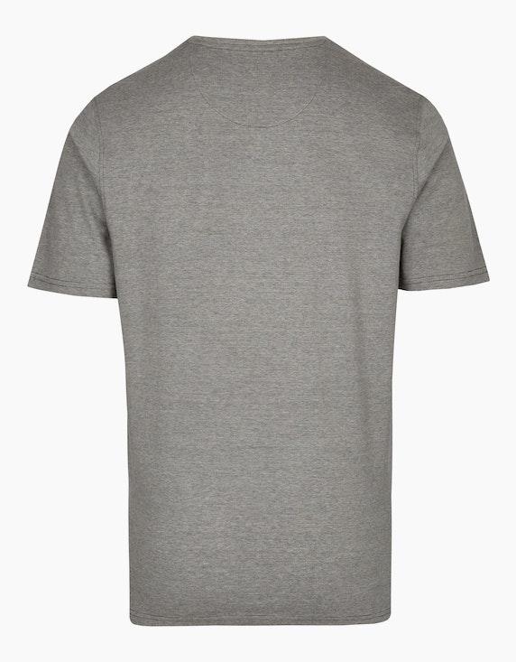 Bexleys man T-Shirt mit feinem Streifen und Brusttasche | ADLER Mode Onlineshop