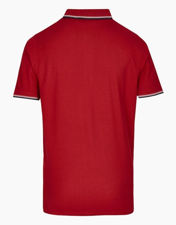 Bexleys man Poloshirt mit Brustprint in Pima Cotton | ADLER Mode Onlineshop