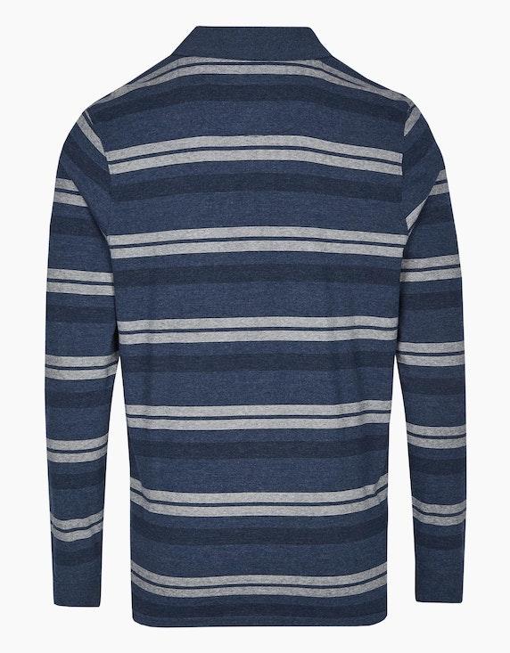 Bexleys man Langarm-Poloshirt im Streifenlook in anschmiegsamer Qualität | ADLER Mode Onlineshop