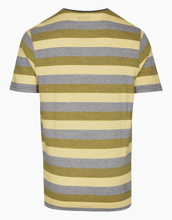 Bexleys man T-Shirt in Fineliner-Blockstreifen, GOTS | ADLER Mode Onlineshop