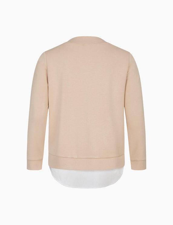 VIA APPIA DUE Sweatshirt mit Blusensaum | ADLER Mode Onlineshop