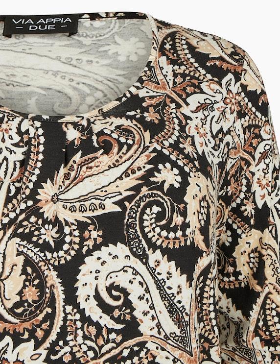 VIA APPIA DUE Shirt mit Blätterdruck | ADLER Mode Onlineshop