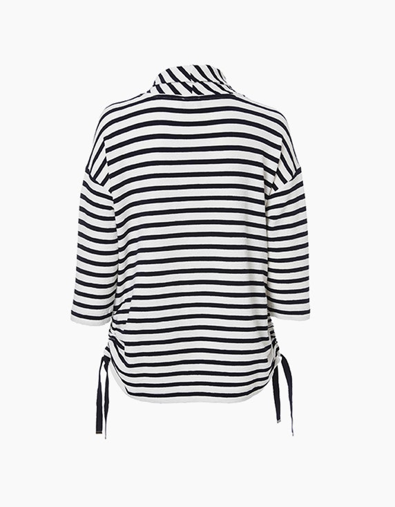 VIA APPIA DUE Gestreiftes Shirt mit Rollkragen | ADLER Mode Onlineshop