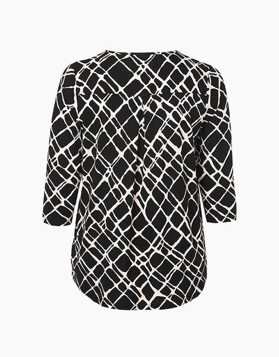 VIA APPIA DUE Shirt mit Alloverprint und Kellerfalte | ADLER Mode Onlineshop