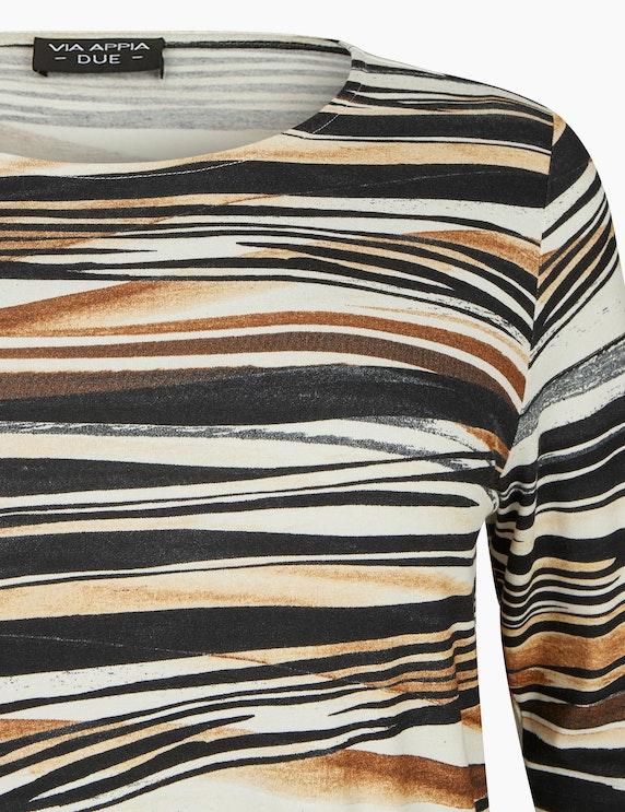 VIA APPIA DUE Shirt mit Wellendruck und U-Boot-Ausschnitt | ADLER Mode Onlineshop