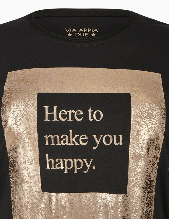 VIA APPIA DUE Shirt mit Statement-Print | ADLER Mode Onlineshop