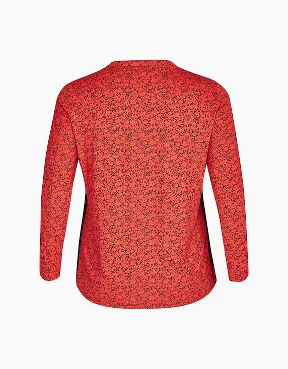 No Secret Langarmshirt mit Bindeband und floralem Muster | ADLER Mode Onlineshop