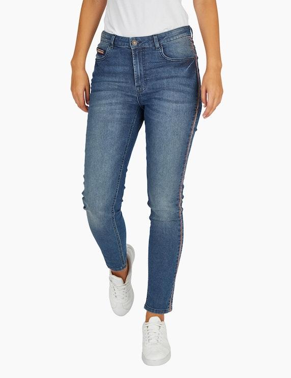 Bexleys woman Jeans mit buntem Kugelketten-Besatz | ADLER Mode Onlineshop