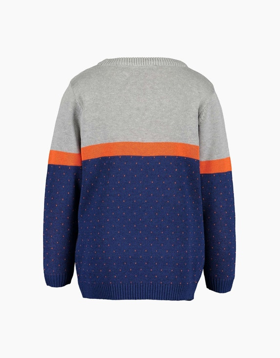 Blue Seven Mini Boys Pullover mit Blockstreifen | ADLER Mode Onlineshop