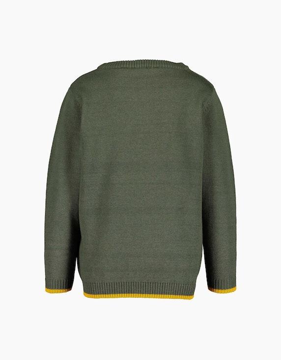 Blue Seven Mini Boys Pullover mit Aufnäher aus Frottee | ADLER Mode Onlineshop