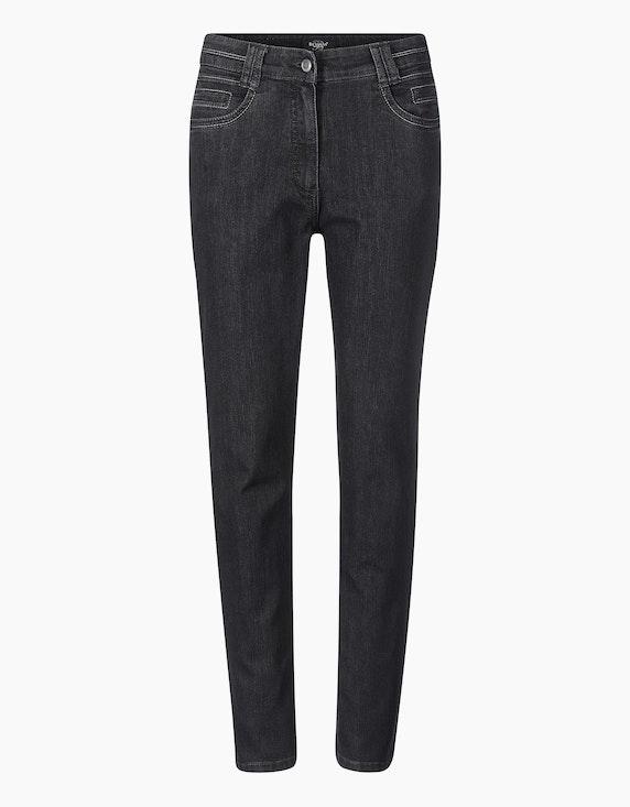 "Bexleys woman Jeans ""Sandra"" in Black Denim   ADLER Mode Onlineshop"