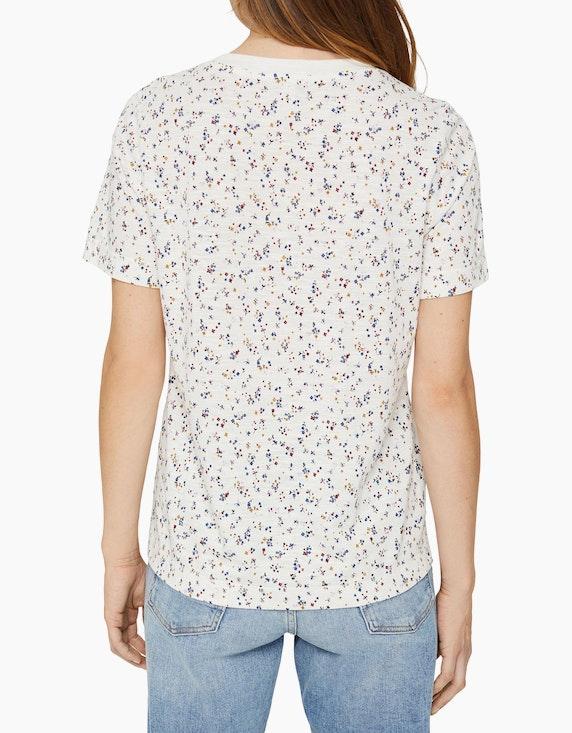 Esprit Shirt mit Blümchen-Muster aus Slub-Jersey | ADLER Mode Onlineshop