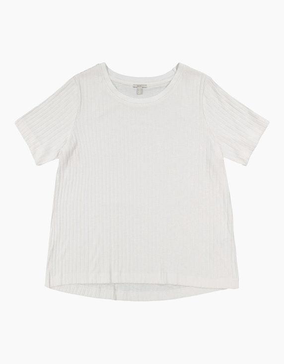 Esprit Geripptes T-Shirt aus Materialmix, CURVY   ADLER Mode Onlineshop