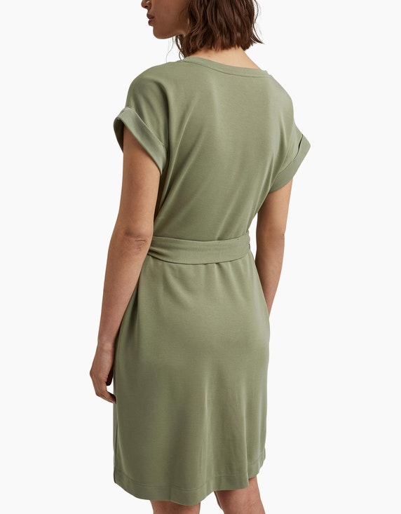 Esprit Jersey-Kleid mit Bindegürtel   ADLER Mode Onlineshop