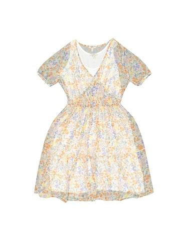 Produktbild zu <strong>Mesh-Kleid mit Volant und Print</strong>CURVY von Esprit