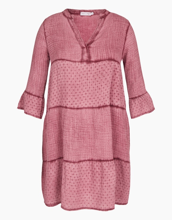 Made in Italy Musselin-Kleid aus Baumwolle in Beere | ADLER Mode Onlineshop