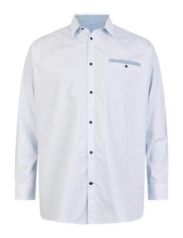 Produktbild zu Gemustertes Langarmhemd von Big Fashion