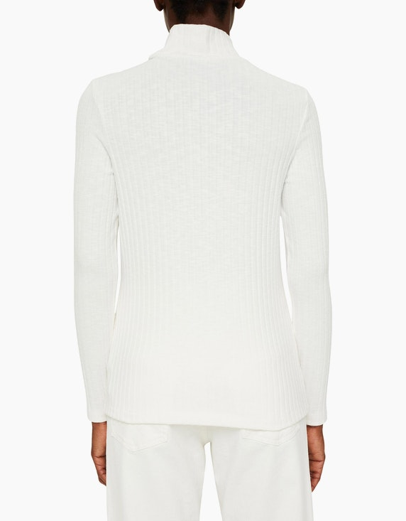 Esprit Stehkragen-Shirt in gerippter Optik   ADLER Mode Onlineshop
