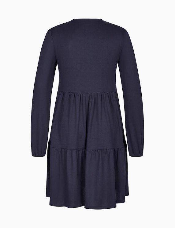 Via Cortesa Jersey-Kleid mit Volants | ADLER Mode Onlineshop