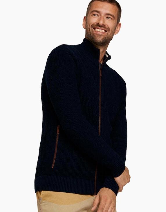 Tom Tailor Strickjacke mit recyceltem Polyester | ADLER Mode Onlineshop