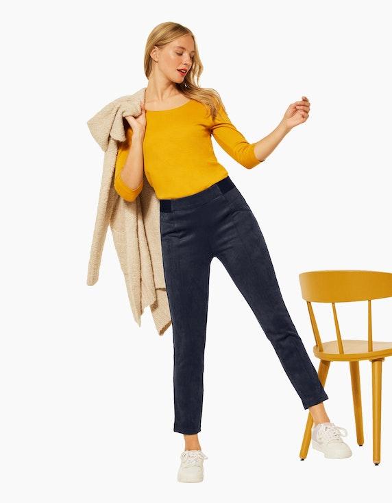 Street One Slim Fit Hose in Velours   ADLER Mode Onlineshop