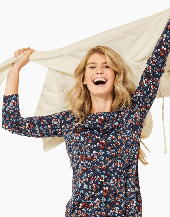 CECIL Shirt mit Blumen-Muster | ADLER Mode Onlineshop