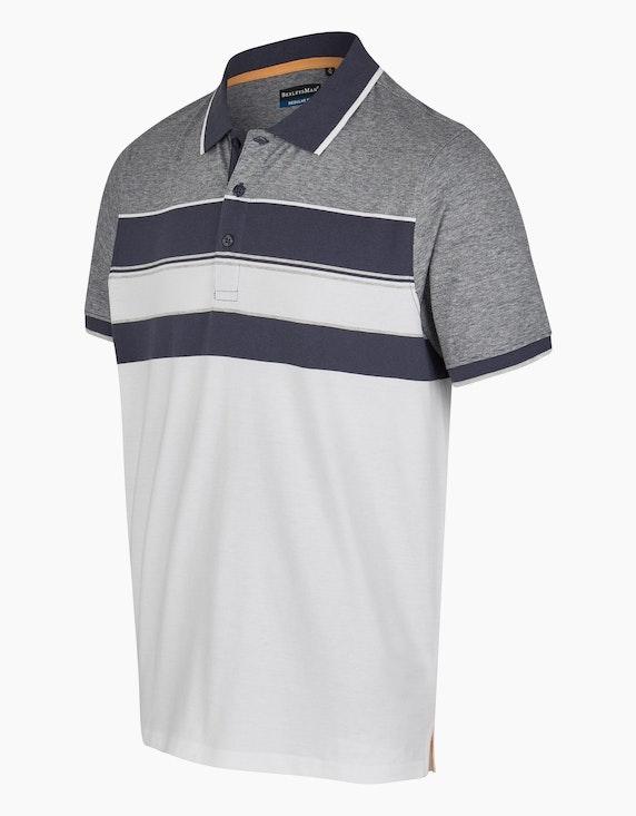 Bexleys man Poloshirt mit trendigem Streifenmuster | ADLER Mode Onlineshop