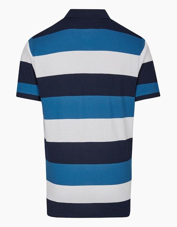 Bexleys man Poloshirt mit modernen Blockstreifen in Pima Cotton | ADLER Mode Onlineshop