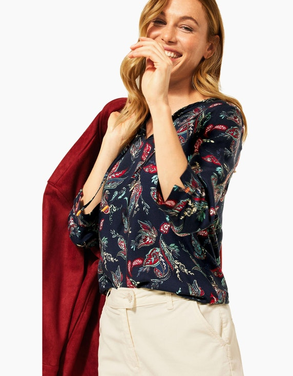 CECIL Bluse mit Paisley-Muster im Tunika-Style | ADLER Mode Onlineshop