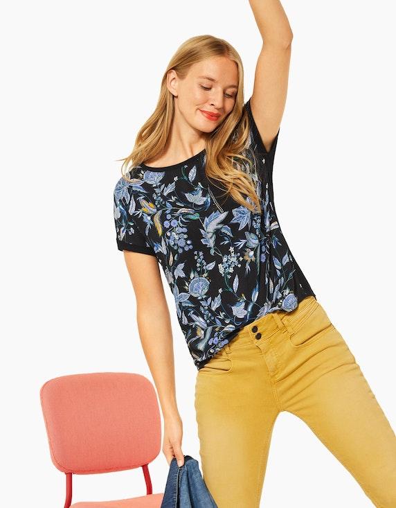Street One Shirt mit floralem Muster und Nieten | ADLER Mode Onlineshop
