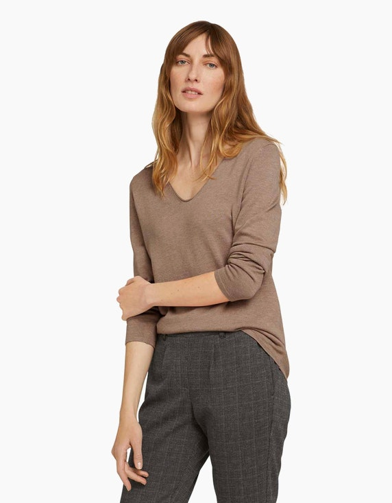 Tom Tailor Pullover aus feinem Baumwoll-Strick   ADLER Mode Onlineshop