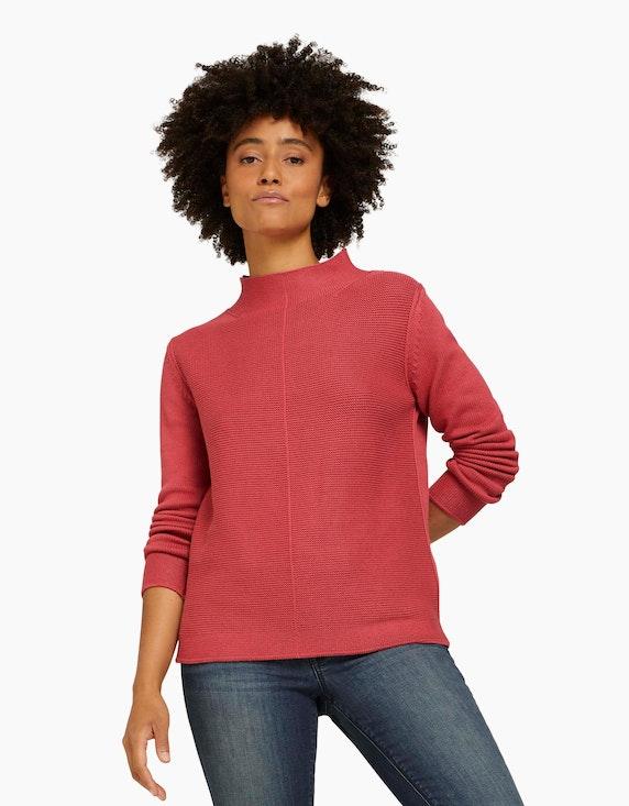 Tom Tailor Strukturierter Pullover mit Bio-Baumwolle | ADLER Mode Onlineshop