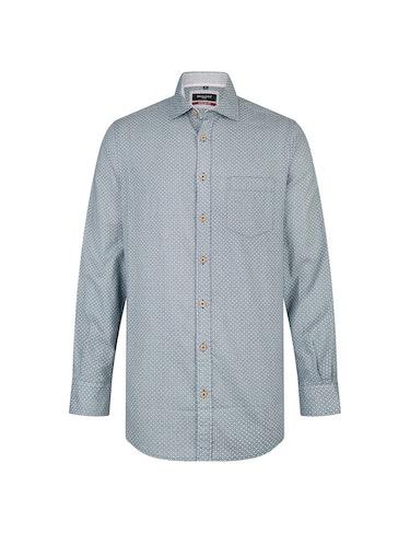 Produktbild zu <strong>Freizeithemd mit Print und Leinenanteil</strong>MODERN FIT von Bexleys man