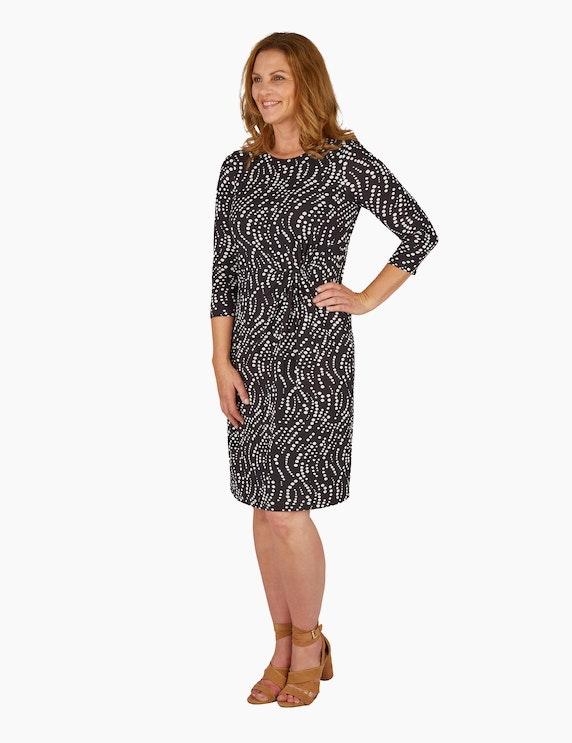 KS. selection Jerseykleid mit Taillen-Drapierung | ADLER Mode Onlineshop