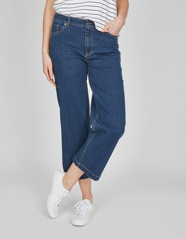 Produktbild zu <strong>Culotte-Jeanshose</strong>7/8-Länge von Via Cortesa