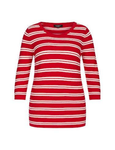bexleys woman - Streifen-Pullover aus Pima Cotton, 116020