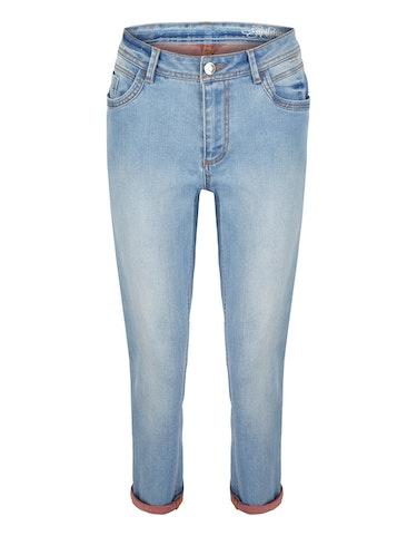 Produktbild zu 7/8 Jeans mit kontrastfarbener Innenseite von Steilmann Woman