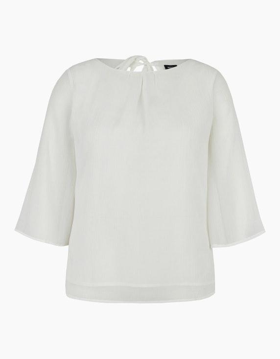 Bexleys woman Chiffonbluse mit Cut-Out und Schleife in Weiß | ADLER Mode Onlineshop