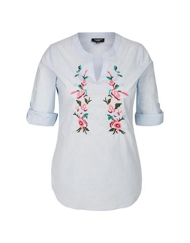 Produktbild zu Bluse mit folkloristischer Blumen-Stickerei von Bexleys woman