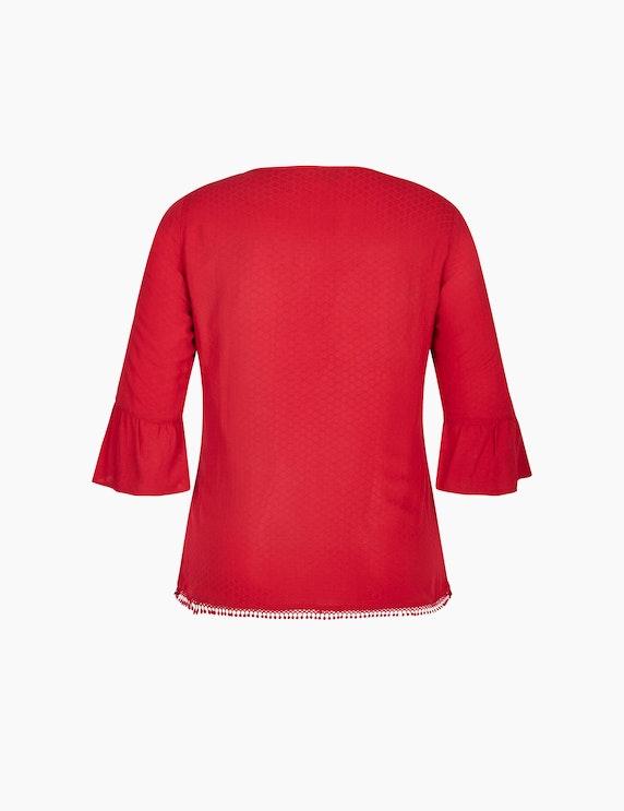Bexleys woman Bluse mit Häkelspitzen-Details und Volantärmeln | ADLER Mode Onlineshop