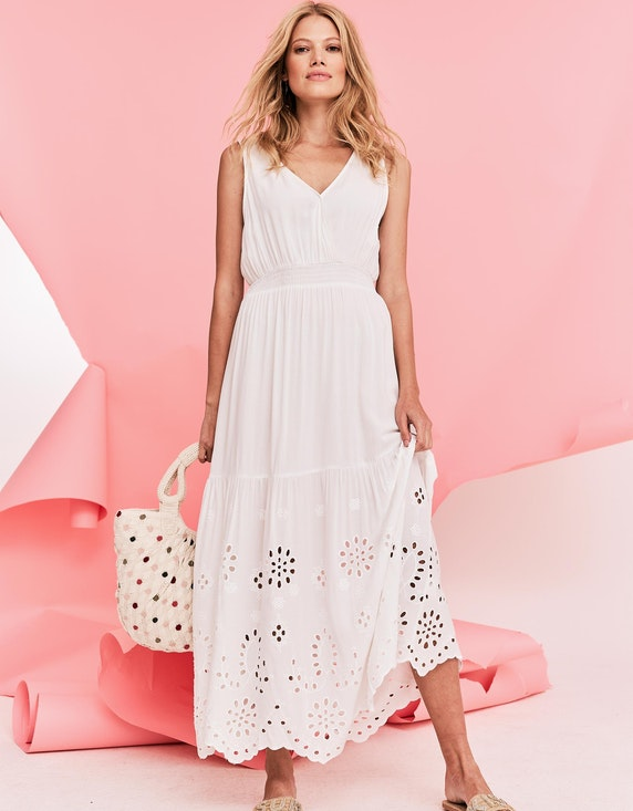 MY OWN Ärmelloses Kleid mit Lochstickerei | ADLER Mode Onlineshop