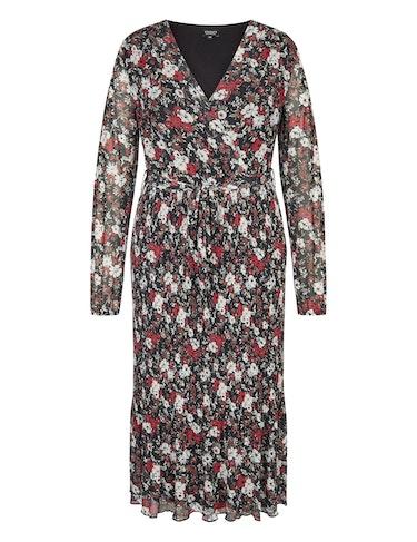 Produktbild zu Langes Mesh-Kleid mit floralem Muster von Viventy