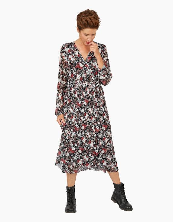 Viventy Langes Mesh-Kleid mit floralem Muster | ADLER Mode Onlineshop
