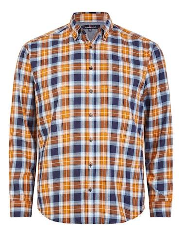 Produktbild zu Langarmhemd mit Karomuster von Via Cortesa