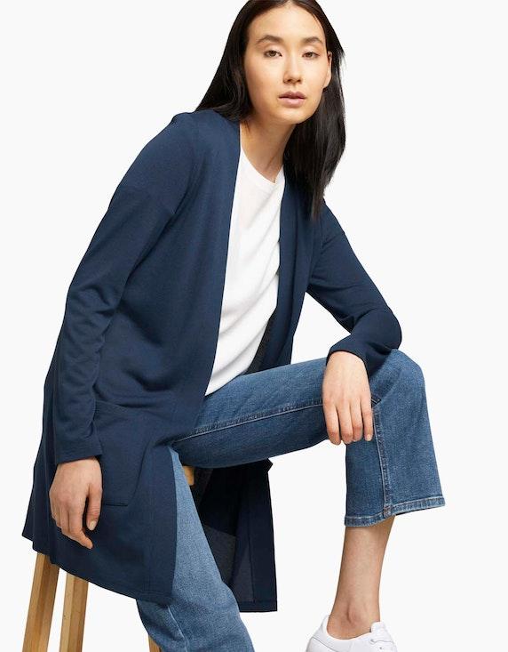 Tom Tailor Langer Jersey-Cardigan | ADLER Mode Onlineshop